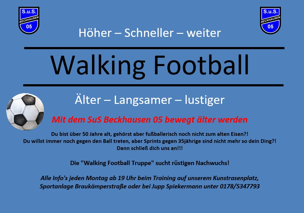 Walking Football Gesuch 2020
